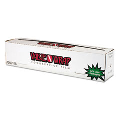 "Anchor Packaging ValueWrap Foodservice Film, 18"" x 2000 ft"