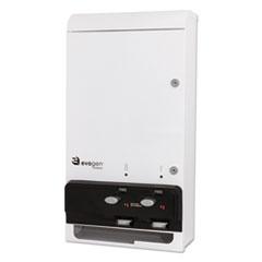 """HOSPECO® Evogen Feminine Hygiene Dispenser, Metal, 14"""" x 7.75"""" x 26.25"""", White"""