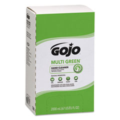 GOJO® MULTI GREEN Hand Cleaner Refill, 2000mL, Citrus Scent, Green, 4/Carton