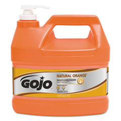 GOJO® NATURAL ORANGE Smooth Hand Cleaner, Citrus Scent, 1 gal Pump Dispenser, 4/Carton