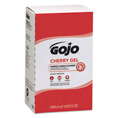 GOJO® Cherry Gel Pumice Hand Cleaner, Cherry Scent, 2,000 ml Refill, 4/Carton