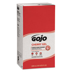GOJO® Cherry Gel Pumice Hand Cleaner, Cherry Scent, 5,000 ml Refill, 2/Carton