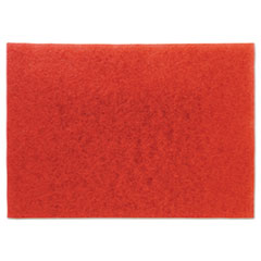 "3M™ Low-Speed Buffer Floor Pads 5100, 28"" x 14"", Red, 10/Carton"
