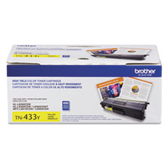 Brother TN433Y High-Yield Toner, 4,000 Page-Yield, Yellow