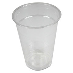 Boardwalk® Clear Plastic Cold Cups, 9 oz, PET, 20 Cups/Sleeve, 50 Sleeves/Carton