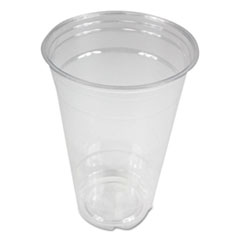 Boardwalk® Clear Plastic Cold Cups, 20 oz, PET, 20 Cups/Sleeve, 50 Sleeves/Carton