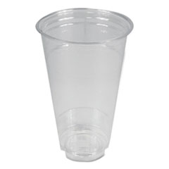 Boardwalk® Clear Plastic Cold Cups, 24 oz, PET, 12 Cups/Sleeve, 50 Sleeves/Carton