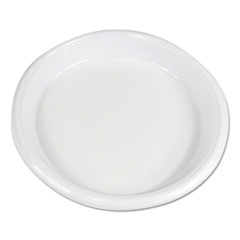"Boardwalk® Hi-Impact Plastic Dinnerware, Plate, 10"" Diameter, White, 500/Carton"