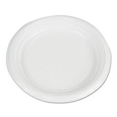 "Boardwalk® Hi-Impact Plastic Dinnerware, Plate, 6"" Diameter, White, 1000/Carton"