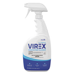 Diversey™ Virex All-Purpose Disinfectant Cleaner, Citrus Scent, 32 oz Spray Bottle, 8/CT