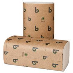 Boardwalk® Boardwalk Green Single-Fold Towels, Natural White,9 1/8x10 1/4, 250/Pk,16 Pks/CT