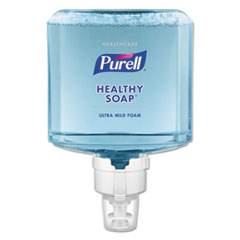 PURELL® Healthcare HEALTHY SOAP Ultra Mild Foam Refill, Clean, 1200 mL, For ES8 Dispensers, 2/Carton