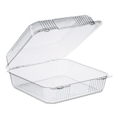 Dart® StayLock Clear Hinged Lid Containers, 75.7 oz, 9.1 x 9.5 x 3.6, Clear, 250/Carton