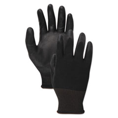 Boardwalk® Black PU Palm Coated Gloves
