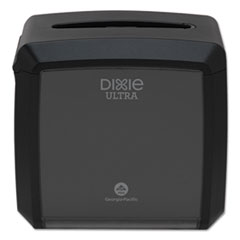 "Dixie® Ultra® Tabletop Napkin Dispenser, 7.6"" x 6.1"" x 7.2"", Black"