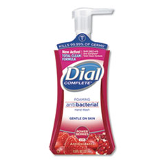 Dial® Antibacterial Foaming Hand Wash, Power Berries, 7.5 oz Pump Bottle, 8/Carton