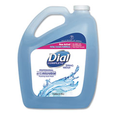 Dial® Professional Antimicrobial Foaming Hand Wash, Spring Water, 1 gal Bottle, 4/Carton
