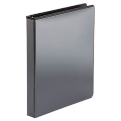 """Office Impressions® Economy Round Ring View Binder, 3 Rings, 1"""" Capacity, 11 x 8.5, Black"""