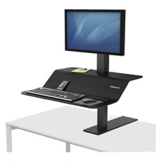"Lotus VE Sit-Stand Workstation, 29"" x 28 1/2"" x 42 1/2"", Black"