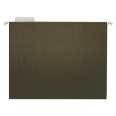 UNV14115 - Hanging File Folders, 1/5 Tab, 11 Point Stock, Letter, Standard Green, 25/Box