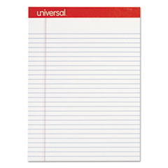 Perforated Ruled Writing Pad, Legal Ruled, Letter, White, 50 Sheet, Dozen