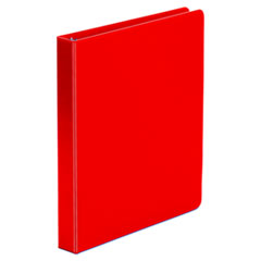 "Universal® Economy Non-View Round Ring Binder, 3 Rings, 1"" Capacity, 11 x 8.5, Red"