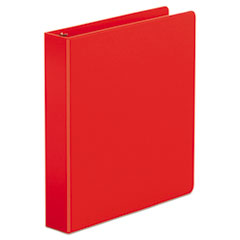 "Universal® Economy Non-View Round Ring Binder, 3 Rings, 1.5"" Capacity, 11 x 8.5, Red"