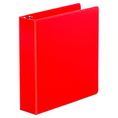 "Universal® Economy Non-View Round Ring Binder, 3 Rings, 2"" Capacity, 11 x 8.5, Red"