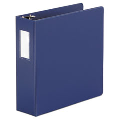 "Universal® Economy Non-View Round Ring Binder, 3 Rings, 3"" Capacity, 11 x 8.5, Royal Blue"