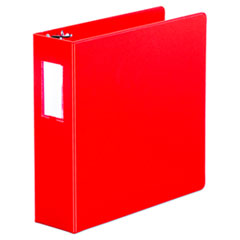 "Universal® Economy Non-View Round Ring Binder, 3 Rings, 3"" Capacity, 11 x 8.5, Red"