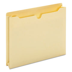 Economical Manila File Jackets, Straight Tab, Letter Size, Manila, 50/Box