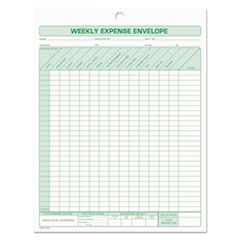 TOPS™ Weekly Expense Envelope, 8 1/2 x 11, 20 Forms