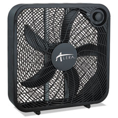 Alera® 3-Speed Box Fan, Black