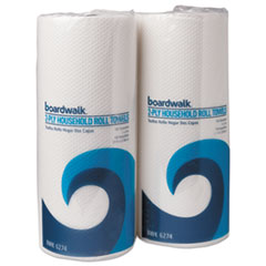 Boardwalk® Household Perforated Paper Towel Rolls, 2-Ply, 9 x 11, White, 100/Roll, 30 Rolls/Carton