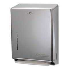 San Jamar® C-Fold/Multifold Towel Dispenser, 11.38 x 4 x 14.75, Stainless Steel