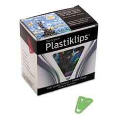 Plastiklips Paper Clips, Medium (No. 4), Assorted Colors, 500/Box