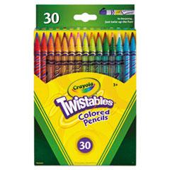 Twistables Colored Pencils, 2 mm, 2B (#1), Assorted Lead/Barrel Colors, 30/Pack