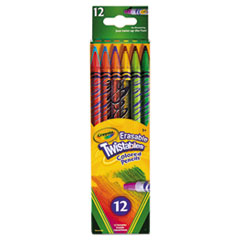 Twistables Erasable Colored Pencils, 12 Assorted Colors/Pack