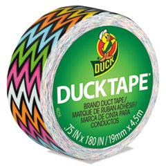 "Duck® Ducklings, 1"" Core, 0.75"" x 15 ft, Multicolor High Impact Zig Zag"