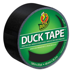 "Colored Duct Tape, 3"" Core, 1.88"" x 20 yds, Black"