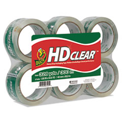 "Heavy-Duty Carton Packaging Tape, 3"" Core, 1.88"" x 55 yds, Clear, 6/Pack"