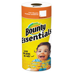 """Essentials Paper Towels, 2-Ply, White, 10.2"""" x 11"""", 40 Sheets/Roll"""