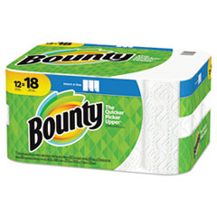 Bounty® Select-a-Size Paper Towels, 2-Ply, White, 5.9 x 11, 83 Sheets/Roll, 12 Rolls/CT