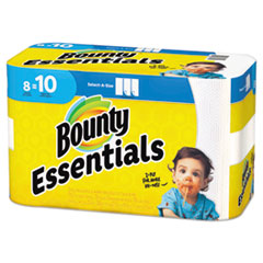Bounty® Essentials Select-A-Size Kitchen Roll Paper Towels, 2-Ply, 78 Sheets/Roll, 8 Rolls/Carton