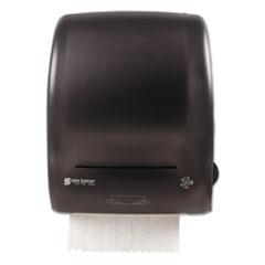 """San Jamar® Simplicity Mechanical Roll Towel Dispenser, 15.25"""" x 13"""" x 10.25"""", Black"""
