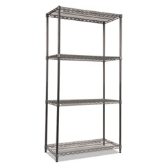 Alera® Black Anthracite Wire Shelving Kit