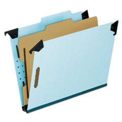 PFX59251 - Pressboard Hanging Classi-Folder, 1 Divider/4-Sections, Letter, 2/5 Tab, Blue