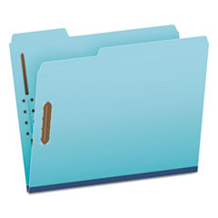 GLW61542 - Earthwise by Pendaflex Heavy-Duty Pressboard Folders, 1/3 Cut, Ltr, Blue, 25/BX