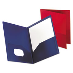 Oxford™ Poly Twin-Pocket Folder