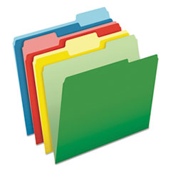 PFX48440 - CutLess File Folders, 1/3 Cut Top Tab, Letter, Assorted, 100/Box